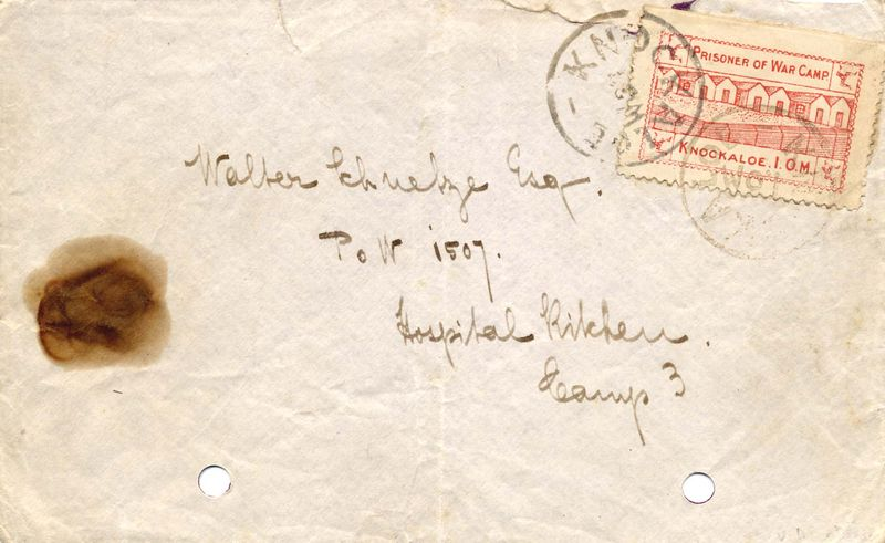 Knockaloe Camp stamp on envelope