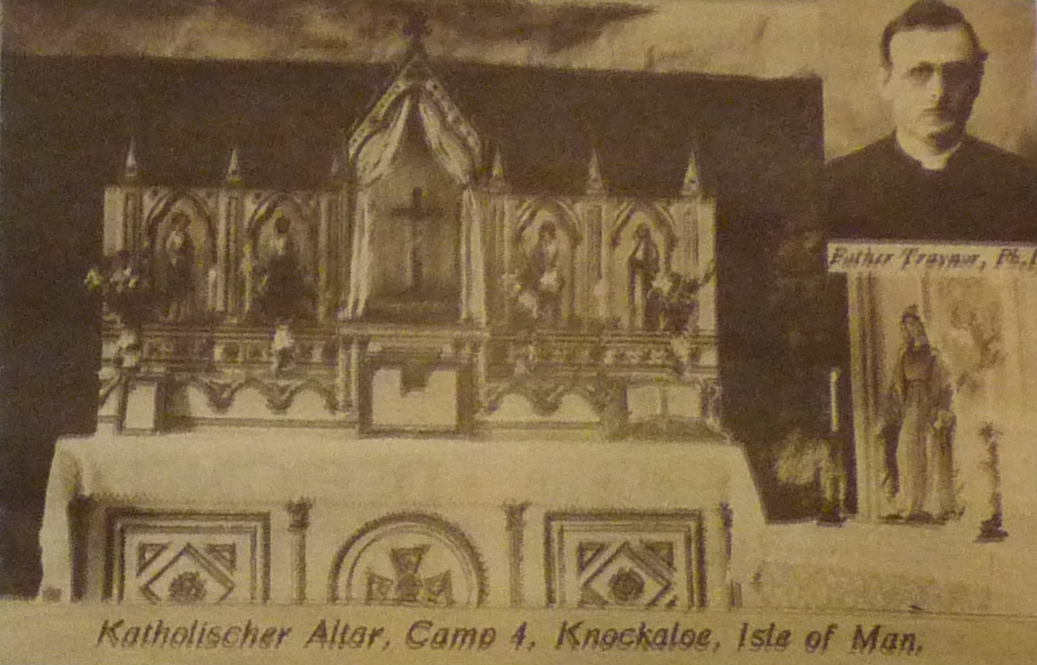 Knockaloe Catholic Church, with Father Traynor