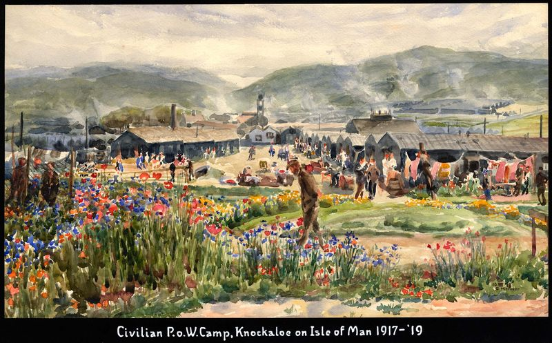 Civilian PoW Camp Painting by George Kenner ©George Kenner Estate