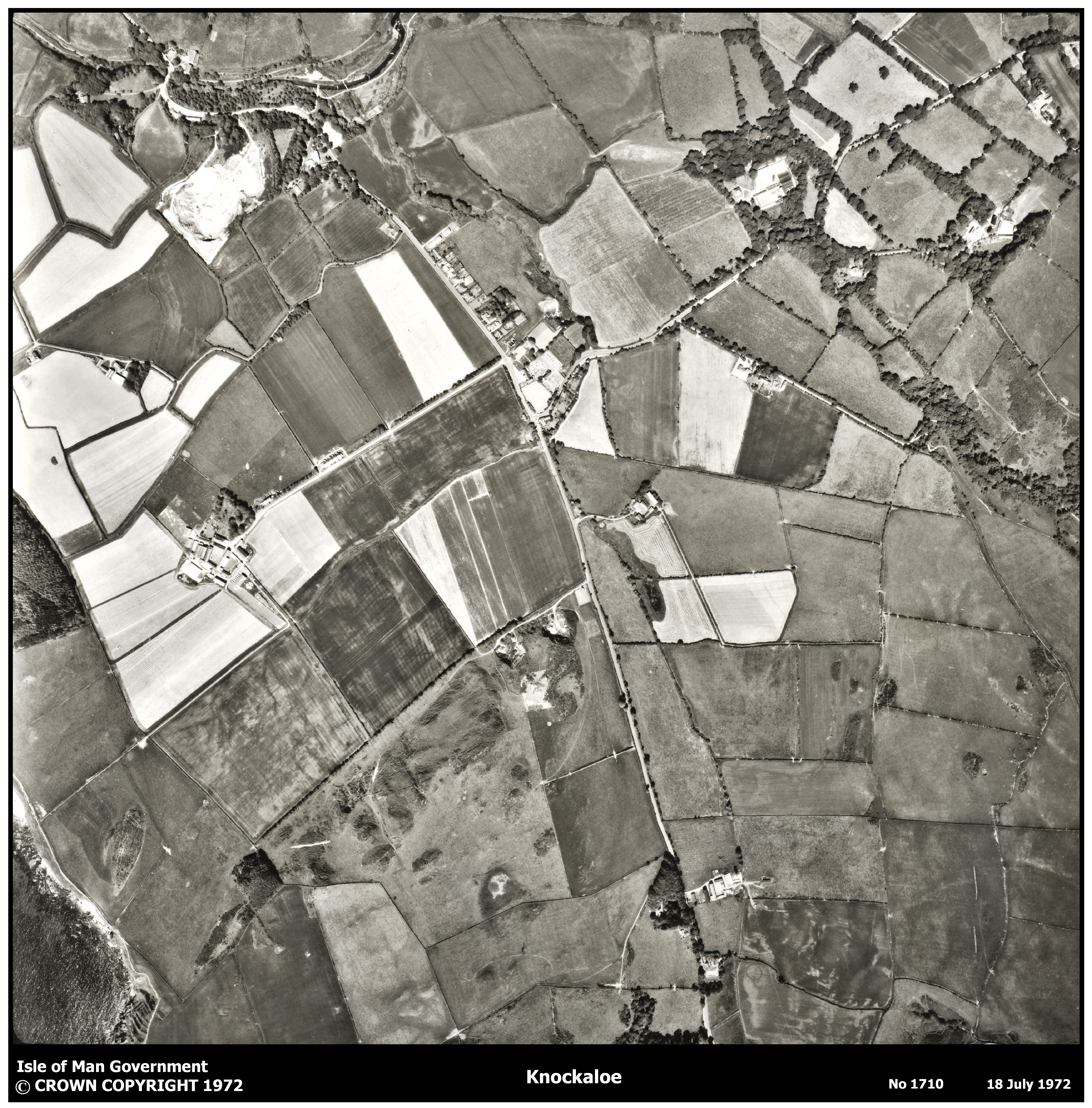 1972 Aerial Photograph ©Department of Infrastructure, Isle of Man Government
